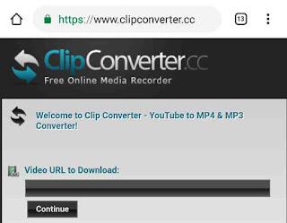 Clip converter homepage