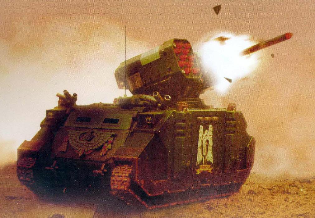 Epic Armageddon 40000 Space Marine Whirlwind 4 tanks