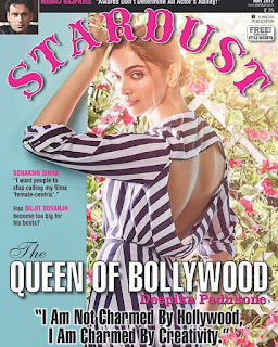 Deepika Padukone on the cover page of Stardust magazine May 2017