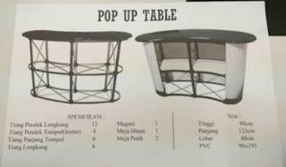 TEMPAT BIKIN POP UP TABLE MURAH