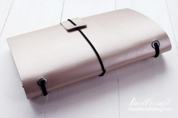 How to make a refillable leather journal by doodlecraft