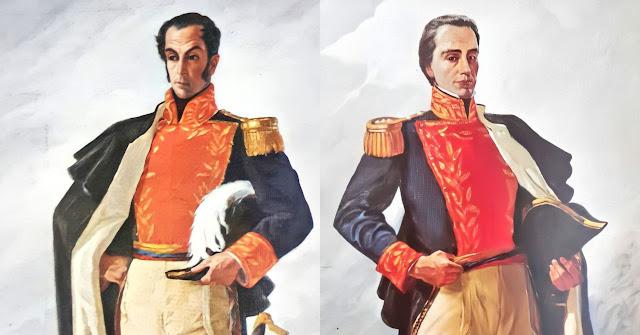 Simón Bolívar y Rafael Urdaneta.