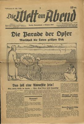 Journal Welt am Abend  1927