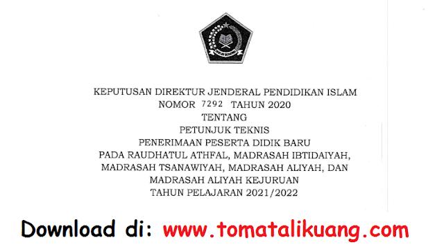 juknis ppdb madrasah mi mts ma mak tahun pelajaran 2021 2022 kemenag pdf tomatalikuang.com