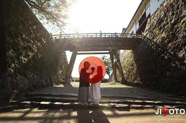 彦根城前撮り撮影