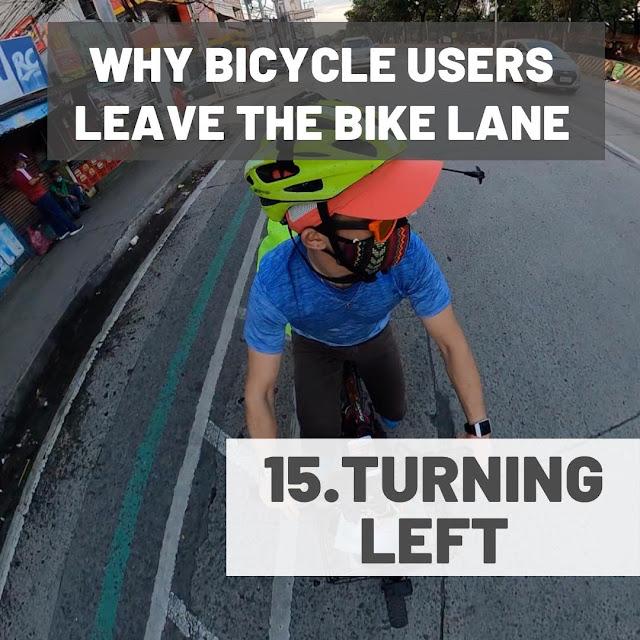 Biker Turning Left