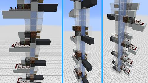 Thang máy nhiều tầng vào loại phức tạp nhất trong Minecraft