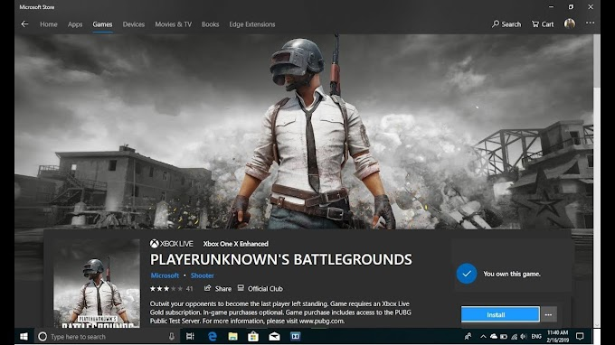 PUBG GAME DOWNLOAD FROM MICROSOFT STORE FOR FREE IN WINDOWS 10,