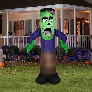 Men's Reaching Zombie Monster Animated Airblown - Green for Halloween