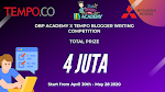 Daftar Peserta Lomba DBP Academy x Tempo Blogger Writing Competition