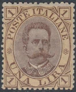 1889 Umberto I 1 Lira