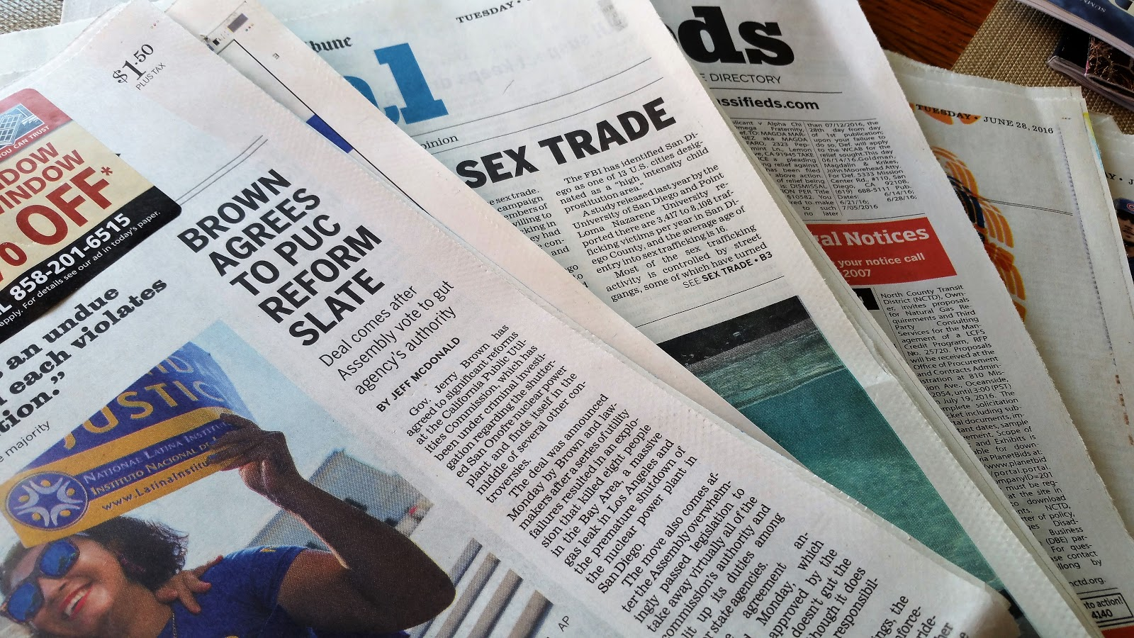 Newspaper heap