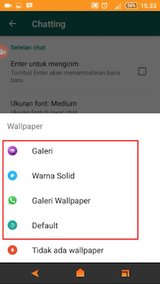 Cara Mengganti Wallpapper Chat WhatsApp