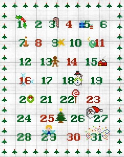 Calendario Dellavvento Punto Croce.Professione Donna Schema Gratis A Punto Croce Calendario