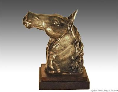 horse sculptures, equine art, clay sculpture