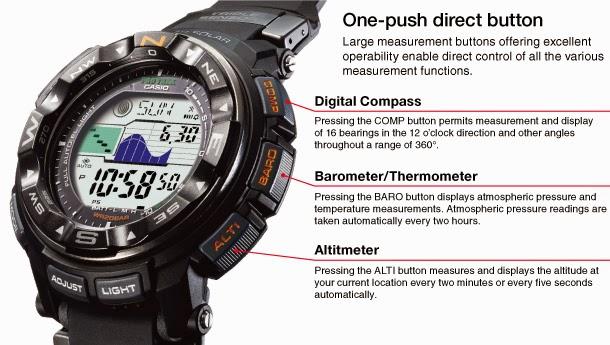 Protrek yang menggunakan bahan titanium merupakan jam outdoor yang lengkap  karena mempunyai fitur canggih 50fa50d533