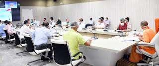 मुख्यमंत्री योगी ने वीडियो काॅन्फ्रेंसिंग के माध्यम से विन्ध्याचल मण्डल के विकास कार्यों की समीक्षा की