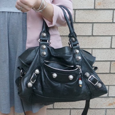 slouchy broken in Balenciaga black part time g21 SGH bag | away from the blue