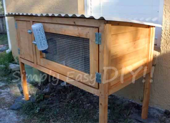 Simply easy diy diy rabbit hutch design 2 for How to build a rabbit hutch plans free
