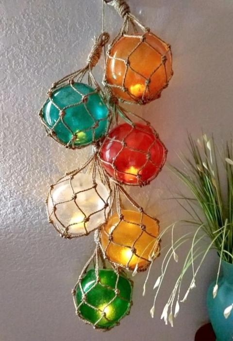 Glass Globe Float Cluster String Lights