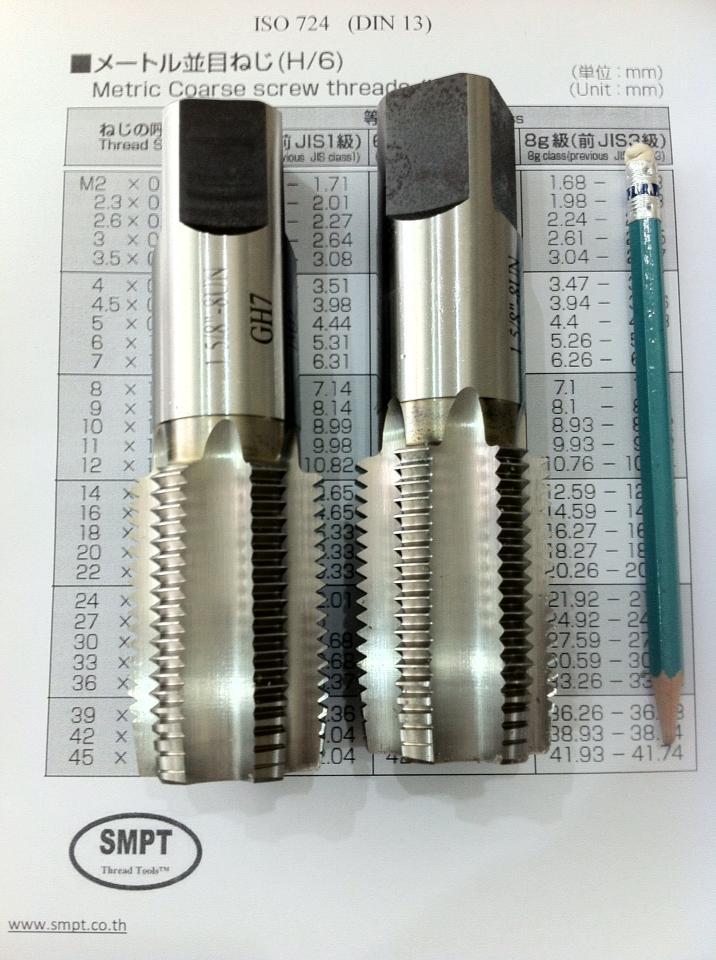 "16 HSS Plug Hand Tap 1-7//16/"""