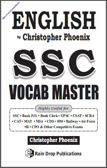 अंग्रेजी एसएससी वॉकैब मास्टर : सभी प्रतियोगी परीक्षा हेतु पीडीऍफ़ पुस्तक | English SSC Vocab Master : For All Competitive Exam PDF Book