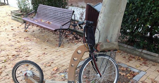 La Morsa 06 ver. 1.2. Wooden FootBike. Wooden KickBike. Homemade Kick Bicycle. Electric Foot Bike. Electric Kick Bicycle. Trotinette.