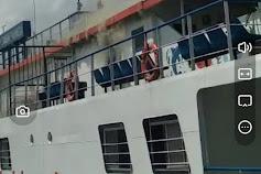 KMP. Sangke Palangga Terbakar di Pelabuhan Bira