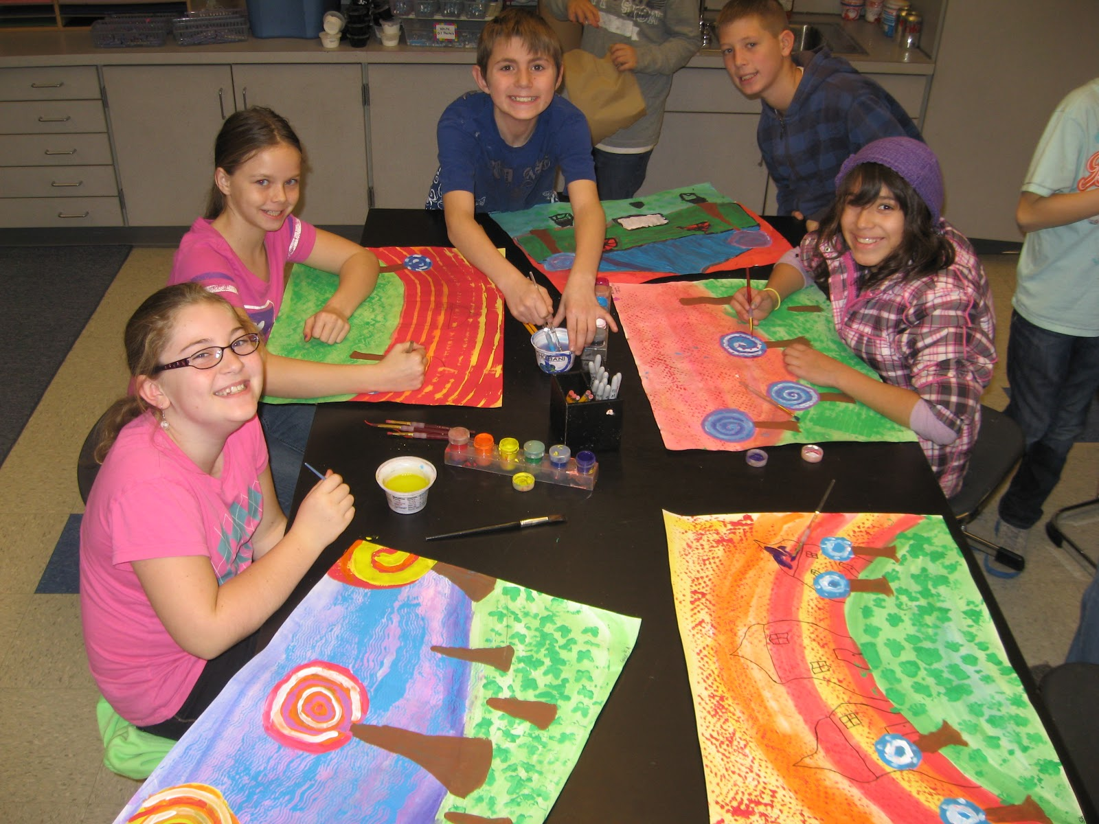 Jamestown Elementary Art Blog 5th Grade Hundertwasser
