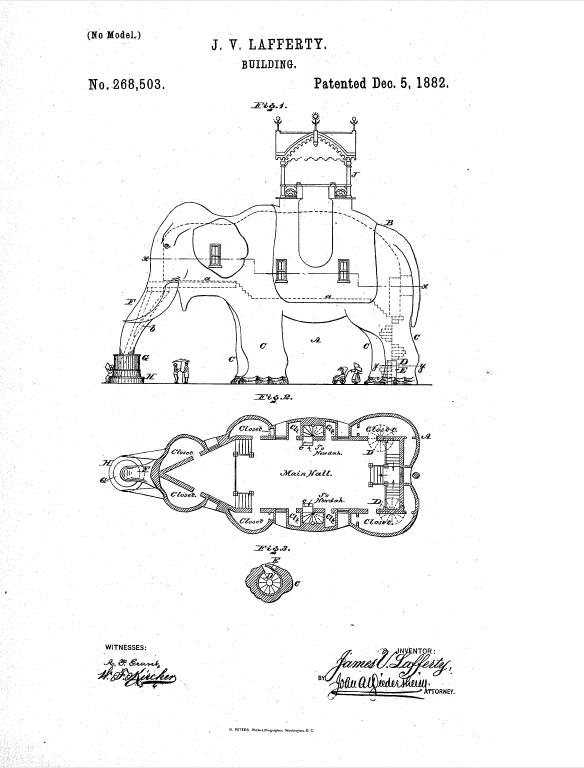 La patente de Lucy the Elephant