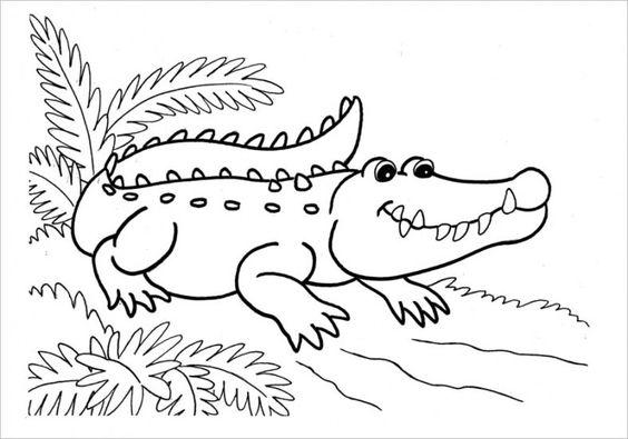 Tranh tô màu cá sấu ngộ nghĩnh