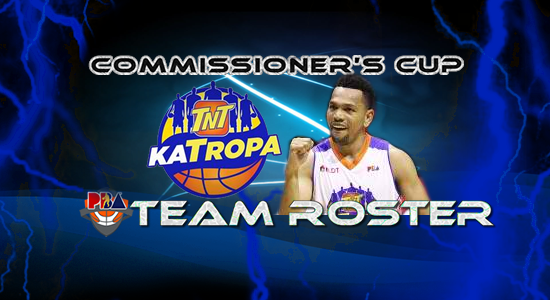 List of TNT Katropa Roster (Lineup) 2017 PBA Commissioner's Cup