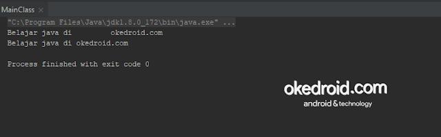 output hasil menggabungkan menggunakan banyak jumlah karakter yang di tentukan nilai tipe data string dengan method format() di program java