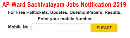 AP ward Sachivalayam Jobs 2019 Recruitment