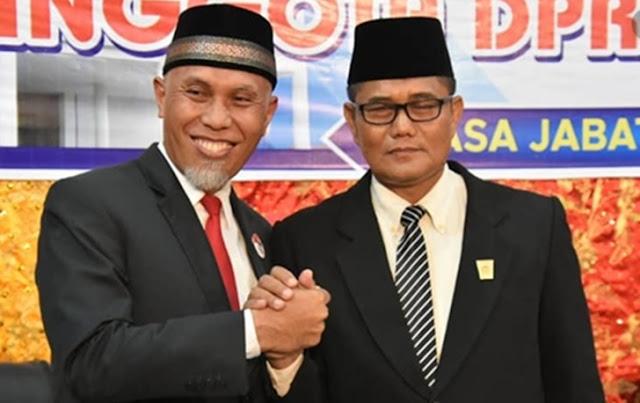 Wali-Kota-Padang-bersama-pimpinan-sementara-dprd-Padang