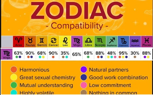 ZODIAC COMPATIBILITY OF VIRGO WITH OTHER SUN SIGNS