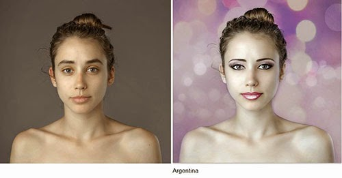 hasil photoshop wanita argentina