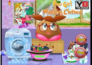 http://www.jogos360.com.br/pou_girl_washing_clothes.html