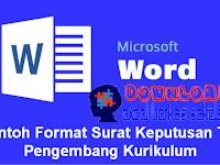 Contoh Format Surat Keputusan TIM Pengembang Kurikulum yang Baik dan Benar
