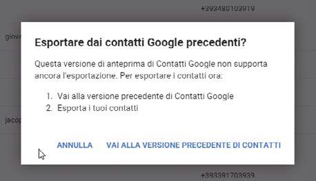 Come esportare la rubrica dei contatti da Gmail
