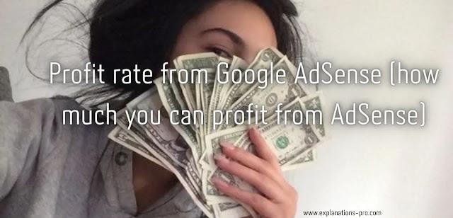 Profit rate from Google AdSense