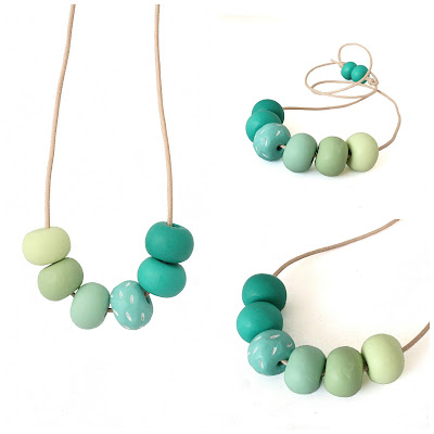 Green Long Statement Necklace by Lottie Of London Jewellery