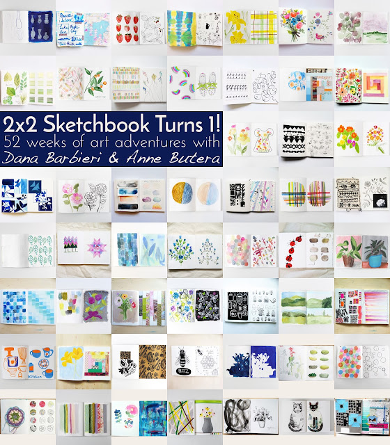 2x2, 2x2 Sketchbook, sketchbooks, artist collaborations, Dana Barbieri, Anne Butera