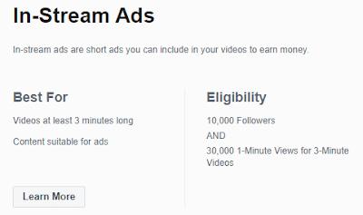 ফেসবুক In-Stream Ads পাওয়ার জন্য কী কী লাগবে?