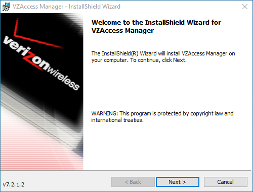 Программа VZAccess Manager для модема Pantech