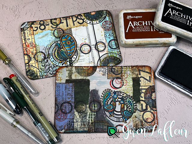 Gwen Lafleur May 2021 PaperArtsy Stamp Release - Project Tutorial Step 5