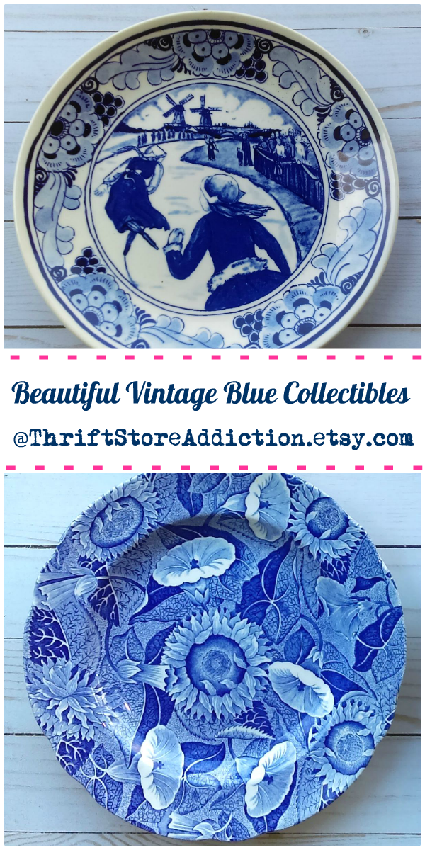 beautiful vintage blue collectibles