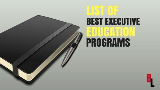 Best Executive Education Programs