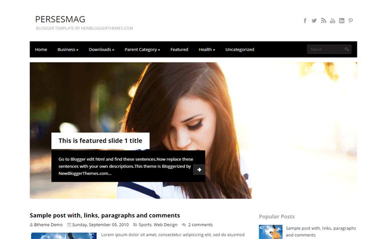 PersesMag Free Blogger Template