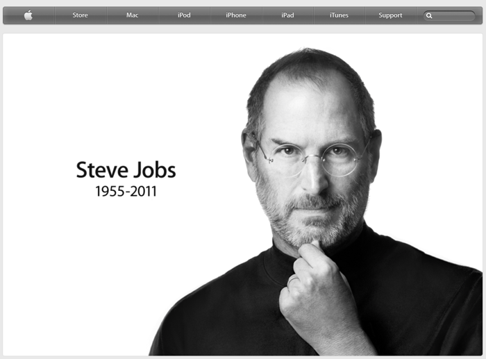 homepage sito apple commemorativa di steve jobs